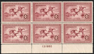 Sale Number 1121, Lot Number 2110, Hunting Permit Stamps (RW2-RW3)$1.00 1935 Hunting Permit (RW2), $1.00 1935 Hunting Permit (RW2)