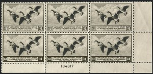 Sale Number 1121, Lot Number 2112, Hunting Permit Stamps (RW2-RW3)$1.00 1936 Hunting Permit (RW3), $1.00 1936 Hunting Permit (RW3)