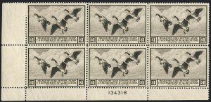 Sale Number 1121, Lot Number 2113, Hunting Permit Stamps (RW2-RW3)$1.00 1936 Hunting Permit (RW3), $1.00 1936 Hunting Permit (RW3)