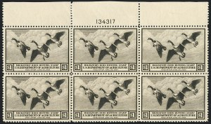 Sale Number 1121, Lot Number 2115, Hunting Permit Stamps (RW2-RW3)$1.00 1936 Hunting Permit (RW3), $1.00 1936 Hunting Permit (RW3)