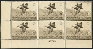 Sale Number 1121, Lot Number 2132, Hunting Permit Stamps (RW7-RW9)$1.00 1940 Hunting Permit (RW7), $1.00 1940 Hunting Permit (RW7)