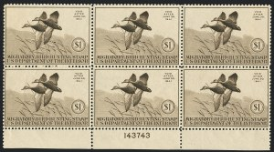 Sale Number 1121, Lot Number 2136, Hunting Permit Stamps (RW7-RW9)$1.00 1940 Hunting Permit (RW7), $1.00 1940 Hunting Permit (RW7)