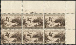 Sale Number 1121, Lot Number 2139, Hunting Permit Stamps (RW7-RW9)$1.00 1942 Hunting Permit (RW9), $1.00 1942 Hunting Permit (RW9)