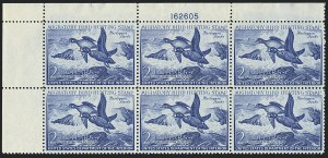 Sale Number 1121, Lot Number 2161, Hunting Permit Stamps (RW15-RW22)$2.00 1952 Hunting Permit (RW19), $2.00 1952 Hunting Permit (RW19)