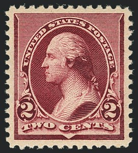 Sale Number 1122, Lot Number 116, 1890-93 Issue (Scott 219-229)2c Lake (219D), 2c Lake (219D)