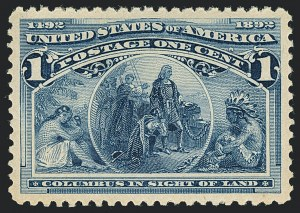 Sale Number 1122, Lot Number 125, 1893 Columbian Issue (Scott 230-245)1c Columbian (230), 1c Columbian (230)