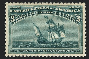 Sale Number 1122, Lot Number 127, 1893 Columbian Issue (Scott 230-245)3c Columbian (232), 3c Columbian (232)
