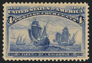 Sale Number 1122, Lot Number 128, 1893 Columbian Issue (Scott 230-245)4c Columbian (233), 4c Columbian (233)
