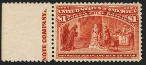 Sale Number 1122, Lot Number 133, 1893 Columbian Issue (Scott 230-245)$1.00 Columbian (241), $1.00 Columbian (241)
