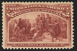 Sale Number 1122, Lot Number 134, 1893 Columbian Issue (Scott 230-245)$2.00 Columbian (242), $2.00 Columbian (242)