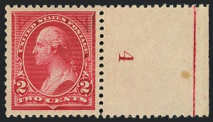 Sale Number 1122, Lot Number 141, 1894-95 Bureau Issues (Scott 246-278)2c Carmine, Ty. I (250), 2c Carmine, Ty. I (250)