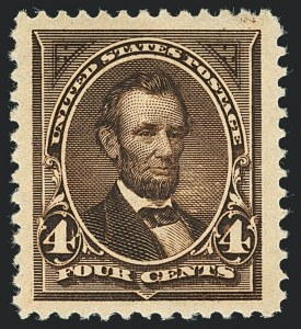 Sale Number 1122, Lot Number 145, 1894-95 Bureau Issues (Scott 246-278)4c Dark Brown (254), 4c Dark Brown (254)