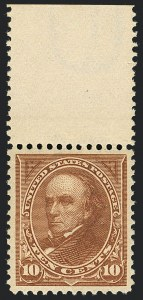 Sale Number 1122, Lot Number 166, 1897-1903 Change of Colors (Scott 279-284)10c Orange Brown, Ty. II (283), 10c Orange Brown, Ty. II (283)