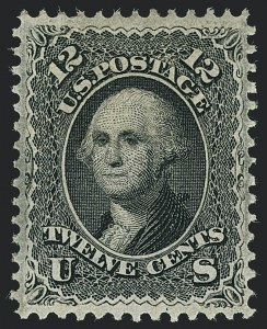 Sale Number 1122, Lot Number 54, 1867-68 Grilled Issue (Scott 79-101)12c Black, F. Grill (97), 12c Black, F. Grill (97)