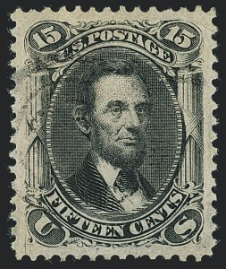 Sale Number 1122, Lot Number 55, 1867-68 Grilled Issue (Scott 79-101)15c Black, F. Grill (98), 15c Black, F. Grill (98)