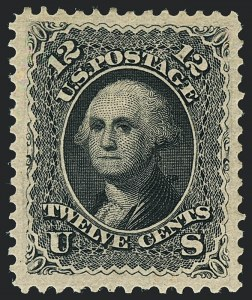Sale Number 1122, Lot Number 61, 1875 Re-Issue of 1861-66 Issue (Scott 102-111)12c Black, Re-Issue (107), 12c Black, Re-Issue (107)