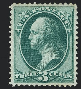 Sale Number 1122, Lot Number 80, 1870-71 National Bank Note Co. Issues (Scott 134-155)3c Green, I. Grill (136A), 3c Green, I. Grill (136A)