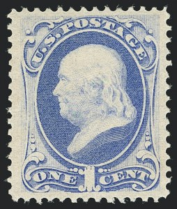 Sale Number 1122, Lot Number 81, 1870-71 National Bank Note Co. Issues (Scott 134-155)1c Ultramarine (145), 1c Ultramarine (145)
