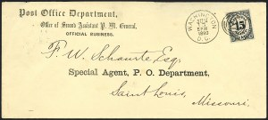 Sale Number 1123, Lot Number 562, Post Office Department15c Post Office (O53), 15c Post Office (O53)