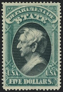 Sale Number 1123, Lot Number 592, State Department $2.00-$20.00 Values$5.00 State (O69), $5.00 State (O69)