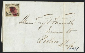 Sale Number 1124, Lot Number 3, American Letter Mail Company: Small Eagle IssueAmerican Letter Mail Co., 5c Black, Thick Paper (5L1), American Letter Mail Co., 5c Black, Thick Paper (5L1)