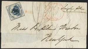 Sale Number 1124, Lot Number 41, American Letter Mail Company: Blue  Eagle IssueAmerican Letter Mail Co., (5c) Blue on Gray (5L3), American Letter Mail Co., (5c) Blue on Gray (5L3)