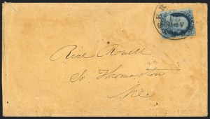 Sale Number 1125, Lot Number 667, 1c-3c 1851-56 Issue1c Blue, Ty. III, Position 99R2 (8), 1c Blue, Ty. III, Position 99R2 (8)
