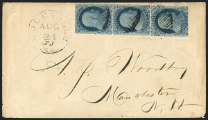 Sale Number 1125, Lot Number 722, 1857-60 Issue1c Blue, Type I (18), 1c Blue, Type I (18)