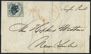 Sale Number 1125, Lot Number 861, 1844-45 Independent MailsAmerican Letter Mail Co., (5c) Blue on Gray (5L3), American Letter Mail Co., (5c) Blue on Gray (5L3)