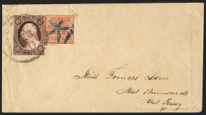 Sale Number 1125, Lot Number 896, Local PostsSwarts' City Dispatch Post, New York N.Y., 1c Red (136L15), Swarts' City Dispatch Post, New York N.Y., 1c Red (136L15)