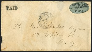 Sale Number 1125, Lot Number 897, Local PostsThird Avenue Post Office, New York N.Y., 2c Black on Blue (139L4), Third Avenue Post Office, New York N.Y., 2c Black on Blue (139L4)