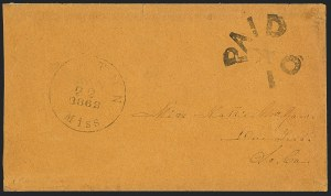 Sale Number 1125, Lot Number 928, Confederate States: Stampless CoversCanton Miss. Jan. 22, 1862, Canton Miss. Jan. 22, 1862