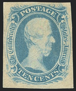 "Sale Number 1125, Lot Number 968, Confederate States: General Issues off Cover10c Milky Blue, ""TEN"" (9a), 10c Milky Blue, ""TEN"" (9a)"