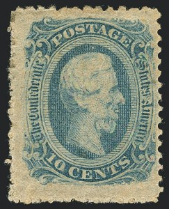 Sale Number 1125, Lot Number 974, Confederate States: General Issues off Cover10c Blue, Die B, Perforated (12f), 10c Blue, Die B, Perforated (12f)