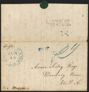 "Sale Number 1126, Lot Number 2, Early Stampless Missionary Mail and G.B. Post & Co.""Honolulu S.I. Jany 19/44"", ""Honolulu S.I. Jany 19/44"""