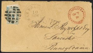 Sale Number 1126, Lot Number 6, 1851 Missionary Issue Stamps and Covers (Scott 2-4)1851, 5c Blue (2), 1851, 5c Blue (2)