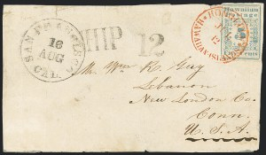 Sale Number 1126, Lot Number 7, 1851 Missionary Issue Stamps and Covers (Scott 2-4)1851, 5c Blue (2), 1851, 5c Blue (2)