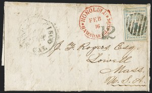 Sale Number 1126, Lot Number 8, 1851 Missionary Issue Stamps and Covers (Scott 2-4)1851, 5c Blue (2), 1851, 5c Blue (2)