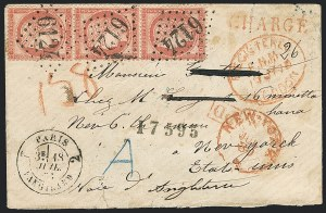Sale Number 1127, Lot Number 225, 1870-75 Bordeaux IssuesFRANCE, 1872, 80c Rose on Pinkish (63; Yvert 57), FRANCE, 1872, 80c Rose on Pinkish (63; Yvert 57)