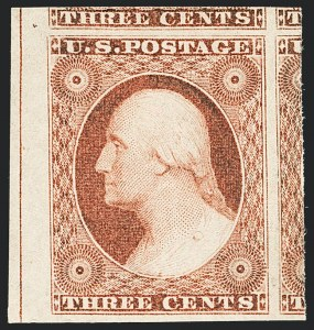 Sale Number 1129, Lot Number 328, 1851-57 Issues3c Dull Red, Ty. II (11A), 3c Dull Red, Ty. II (11A)