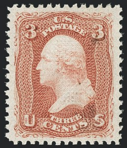 Sale Number 1129, Lot Number 356, 1867-68 Grilled Issue3c Red, F. Grill (94). Mint N.H, 3c Red, F. Grill (94). Mint N.H