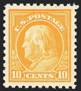 Sale Number 1129, Lot Number 421, Washington-Franklin and Panama-Pacific Issues10c Orange Yellow (433), 10c Orange Yellow (433)