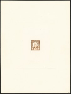 Sale Number 1129, Lot Number 433, Later Issues4c Brown, Large Die Proof on India (685P1), 4c Brown, Large Die Proof on India (685P1)