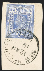 Sale Number 1130, Lot Number 1079, Ascension thru Australian States (New South Wales)NEW SOUTH WALES, 1899, 2p Ultramarine, Perforated 12 x 11-1/2 (103; SG 292a), NEW SOUTH WALES, 1899, 2p Ultramarine, Perforated 12 x 11-1/2 (103; SG 292a)