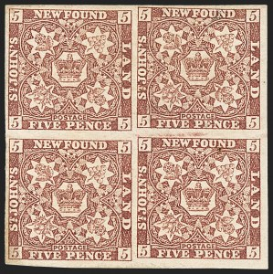 Sale Number 1130, Lot Number 1139, Canadian Provinces - NewfoundlandNEWFOUNDLAND, 1857, 5p Brown Violet (5; SG 5), NEWFOUNDLAND, 1857, 5p Brown Violet (5; SG 5)