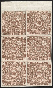 Sale Number 1130, Lot Number 1145, Canadian Provinces - NewfoundlandNEWFOUNDLAND, 1860, 5p Violet Brown (12A; SG 13), NEWFOUNDLAND, 1860, 5p Violet Brown (12A; SG 13)