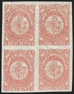 Sale Number 1130, Lot Number 1149, Canadian Provinces - NewfoundlandNEWFOUNDLAND, 1861, 8p Rose (22; SG 22), NEWFOUNDLAND, 1861, 8p Rose (22; SG 22)