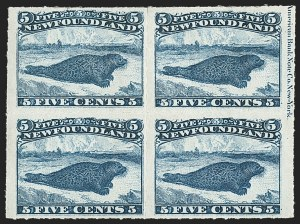 Sale Number 1130, Lot Number 1151, Canadian Provinces - NewfoundlandNEWFOUNDLAND, 1876, 5c Blue, Rouletted (40; SG 43), NEWFOUNDLAND, 1876, 5c Blue, Rouletted (40; SG 43)