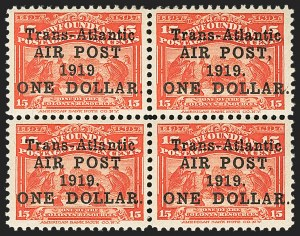 Sale Number 1130, Lot Number 1169, Canadian Provinces - NewfoundlandNEWFOUNDLAND, 1919, $1.00 on 15c Scarlet, With and Without Comma and Period (C2, C2a, C2b, C2i), NEWFOUNDLAND, 1919, $1.00 on 15c Scarlet, With and Without Comma and Period (C2, C2a, C2b, C2i)