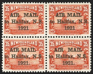 Sale Number 1130, Lot Number 1170, Canadian Provinces - NewfoundlandNEWFOUNDLAND, 1921, 35c Red, Air Post, Both Spacings, With and Without Period (C3, C3b, C3f, C3h), NEWFOUNDLAND, 1921, 35c Red, Air Post, Both Spacings, With and Without Period (C3, C3b, C3f, C3h)